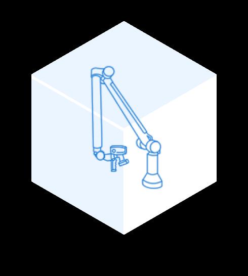 3D measuring arms